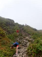 steep scramble