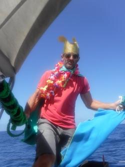 King Neptune arrives.