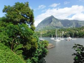 Our anchorage in Hiva Oa